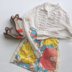 Target collaboration Summer floral mini skirt
